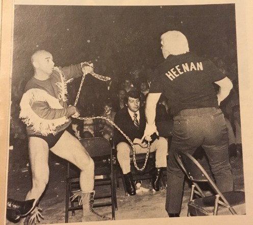 The Closet of Anxiety — Billy Red Cloud and Bobby Heenan in a chain match....