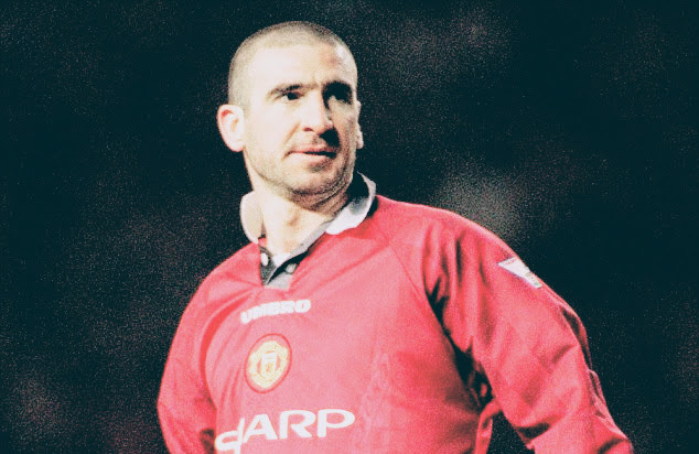 Represents one of the most famous goal celebrations of all. Greats Of The Game Eric Cantona 1996 Eric Cantona Scores A
