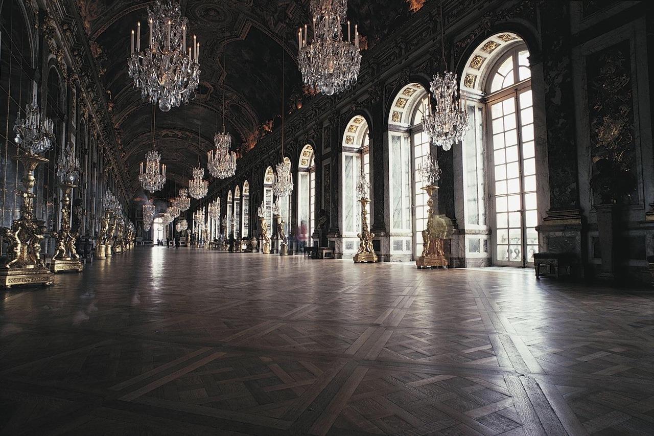 Interiors Salle Des Miroirs Palais De Versailles France