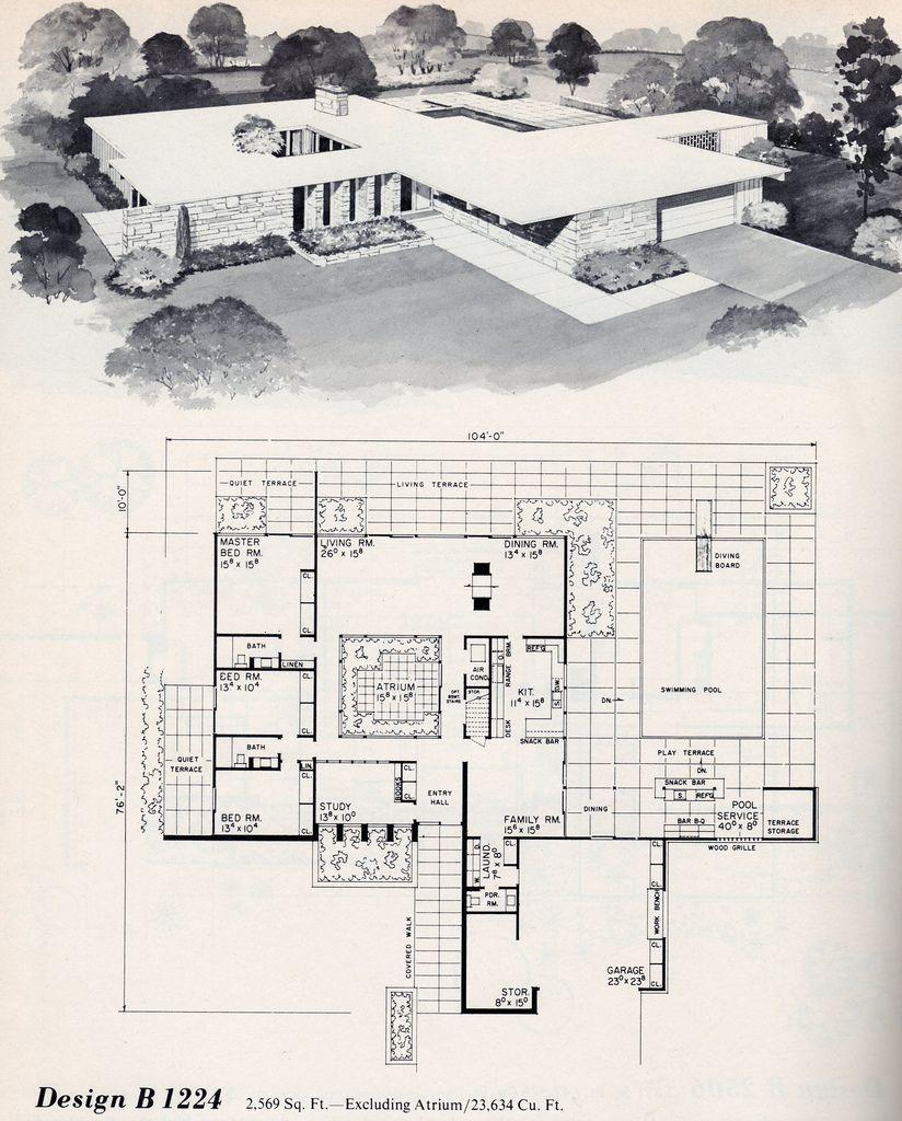 Chris Urban Corner Mid Century Modern Bungalow Design B 1224
