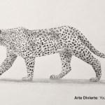 Arte Divierte Como Dibujar Un Leopardo De Perfil A Lapiz Mira
