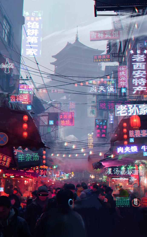 Futuristic cities - Cyberpunk Art