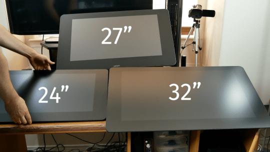 wacom cintiq size comparisons