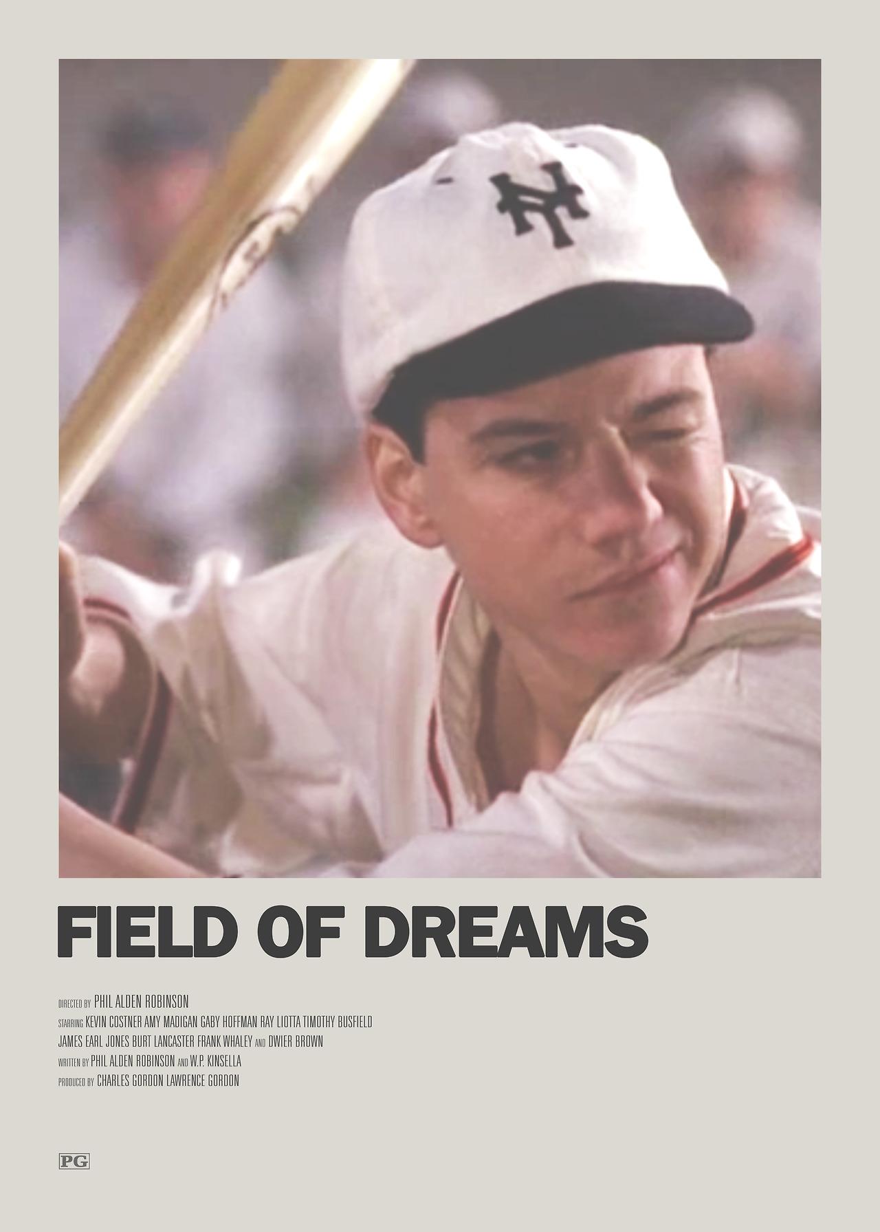 field of dreams minimal movie poster