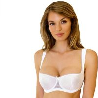 Womens Balconette Bra With Padded Straps. A comfortable balconette bra that gives great support, allows low tops to be worn, and leaves a small gap between your boobs that stops your cleavage getting sweaty. Recommend. Sat, 16 Jan 2021 14:24:39 +0400