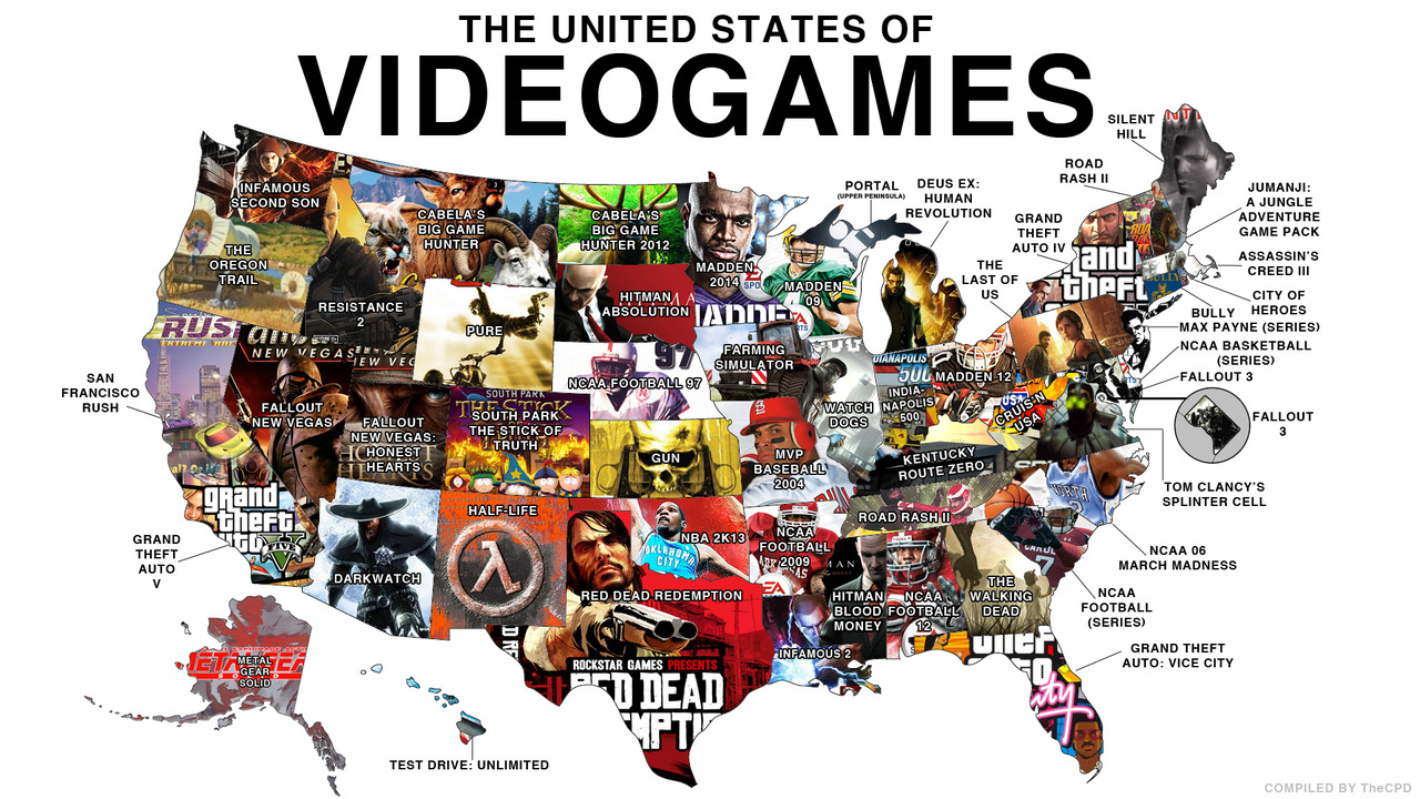 Video Game States Of America Maps On The Web