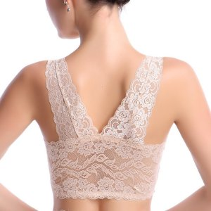 Women V Neck Sexy Seamless Wire Free Lace Sleep Bra Wireless Bralette. This is a very beautiful... , Sat, 07 Nov 2020 19:12:42 +0000