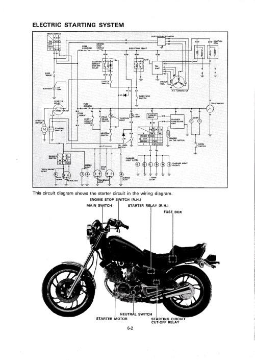 virago xv500 caferacer 1982 — wiring diagrams for the xv500se