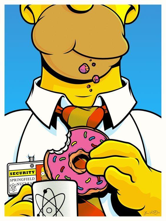 Homer Eating Donuts Tumblr