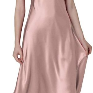 Women's Nightdress Lace Satin Nightgowns Long Chemise Sleepwear. Sexy low v-neck with lace detail... , Mon, 01  Mar 2021 19:12:33 +0000