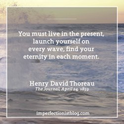 """#40 - """"You must live in the present, launch yourself on every wave, find your eternity in each moment."""" -Henry David Thoreau"""
