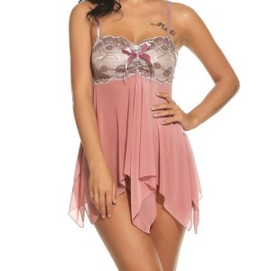Women's Sexy Lingerie Mesh Babydolls Forky Nightwear Lace Chemises. This nightie is a beautiful... , Mon, 21 D ec 2020 09:36:38 +0000
