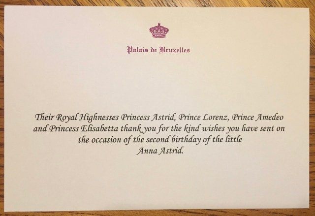 Writing to Royals — Royal Mail! Belgium is covering all bases on