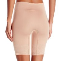 Maidenform Women's Shapewear Peek Out Shapers Thigh Slimmer. Make a statement without saying a word. The Maide nform fashion seamless shorty lets you dial up the smooth while the peak-out lace trim on the waist band is sure to turn  your walk into a strut. Sun, 18 Apr 2021 14:24:40 +0400