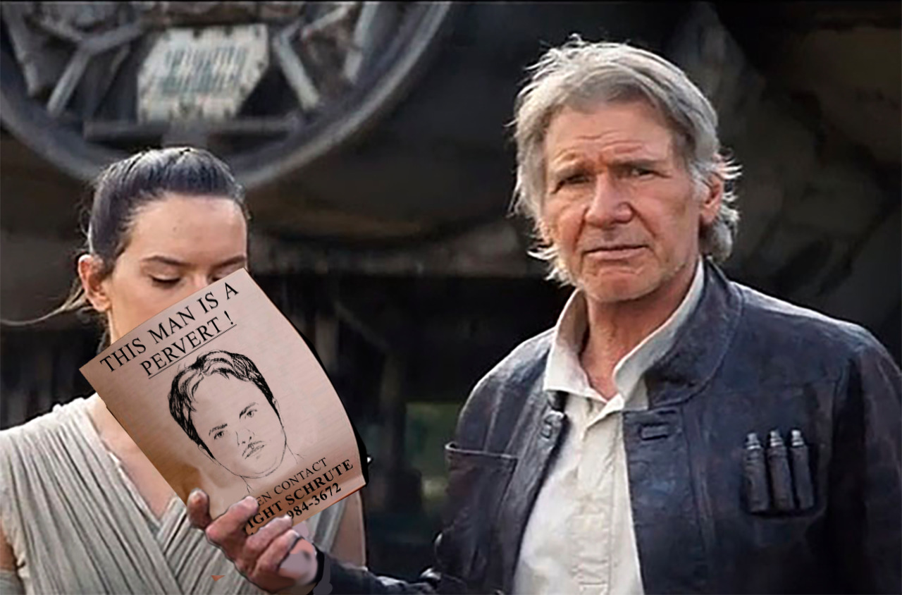 han solo hands things to rey