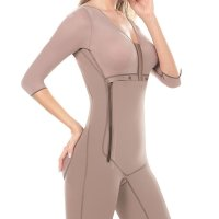 Full Body Girdles for Women Zipper Surgery Fajas Colombianas. Mould your body with the most comfortable girdles  for women zipper available. D Prada Colombiana offers a girdle colombiana that smoothes your body completely. Our girdle  with bra fits from skinny to plus size women. Feel great with the best girdle with butt lifter and front zipper and the  firmest shapewear available. Our shapewear with built in bra has a design that looks great under your favorite long sle eve with knee lenght outfits. The inside of this undetectable body shaper provides a soft feeling. The powernet on the o utside of the firmest control shaper you'll find, provides enough compression. These girdles for dresses come with fla t seams which aren't visible under garments. The layered open crotch of this slimmer shapewear also makes it easy when  using the restroom. Our tummy control shapewear is ideal as liposuction compression garments to help after the recovery  of your abdomen, back, butt, hips, thighs or/