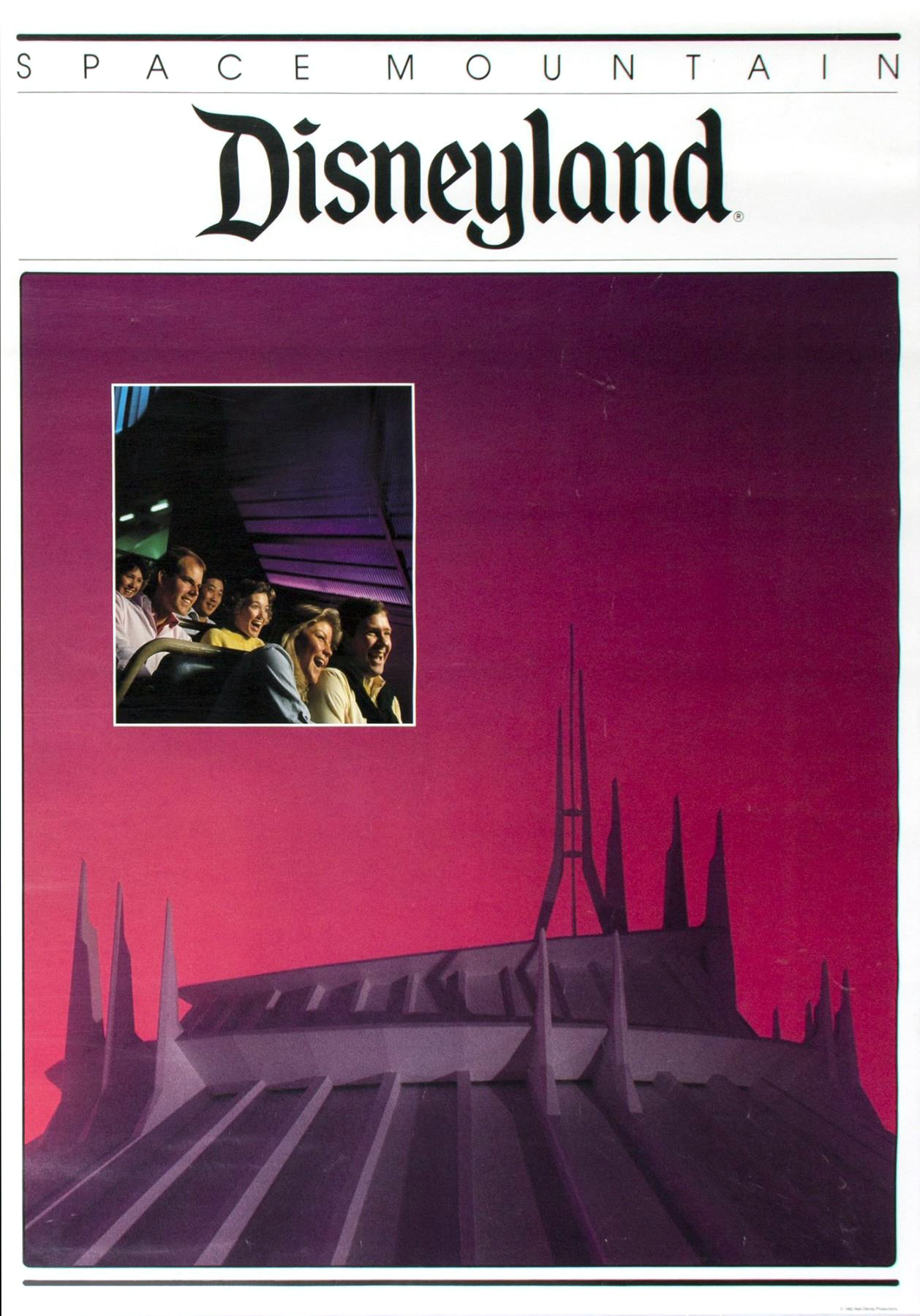 1982 space mountain poster