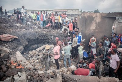 Residents describe chaotic scenes after Mount Nyiragongo, one of the world's most dangerous volcanoes, erupted and caused hundreds of earthquakes in Congo. Thousands have fled the city of Goma in eastern Congo after a volcano erupted and hundreds of...