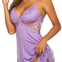 Women Chemise Lingerie Sexy Nightie Full Slips Lace Babydoll Sleepwear Dress. Perfect for loungewear and sleepwear.Wear it as full slip under your clothes or nightgown.The special design and modern makes you more attractive, charming and fashionable. Sat, 02 Jan 2021 04:48:29 +0400