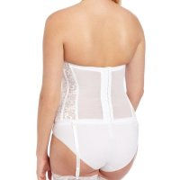 Women's Full figure Lace Corset Bra. Light boning slims and cinches waists, curves hips and flattens stomachs.  kodel fiber-filled cups, and side panels are detailed in lace. undercups and front panels are double knit enkalure nylo n. removable garters.It was exactly what I was looking for. It fit perfectly,made my dress look great. I would definitel y recommend this item. You will be satisfied. Mon, 28 Sep 2020 04:48:35 +0400