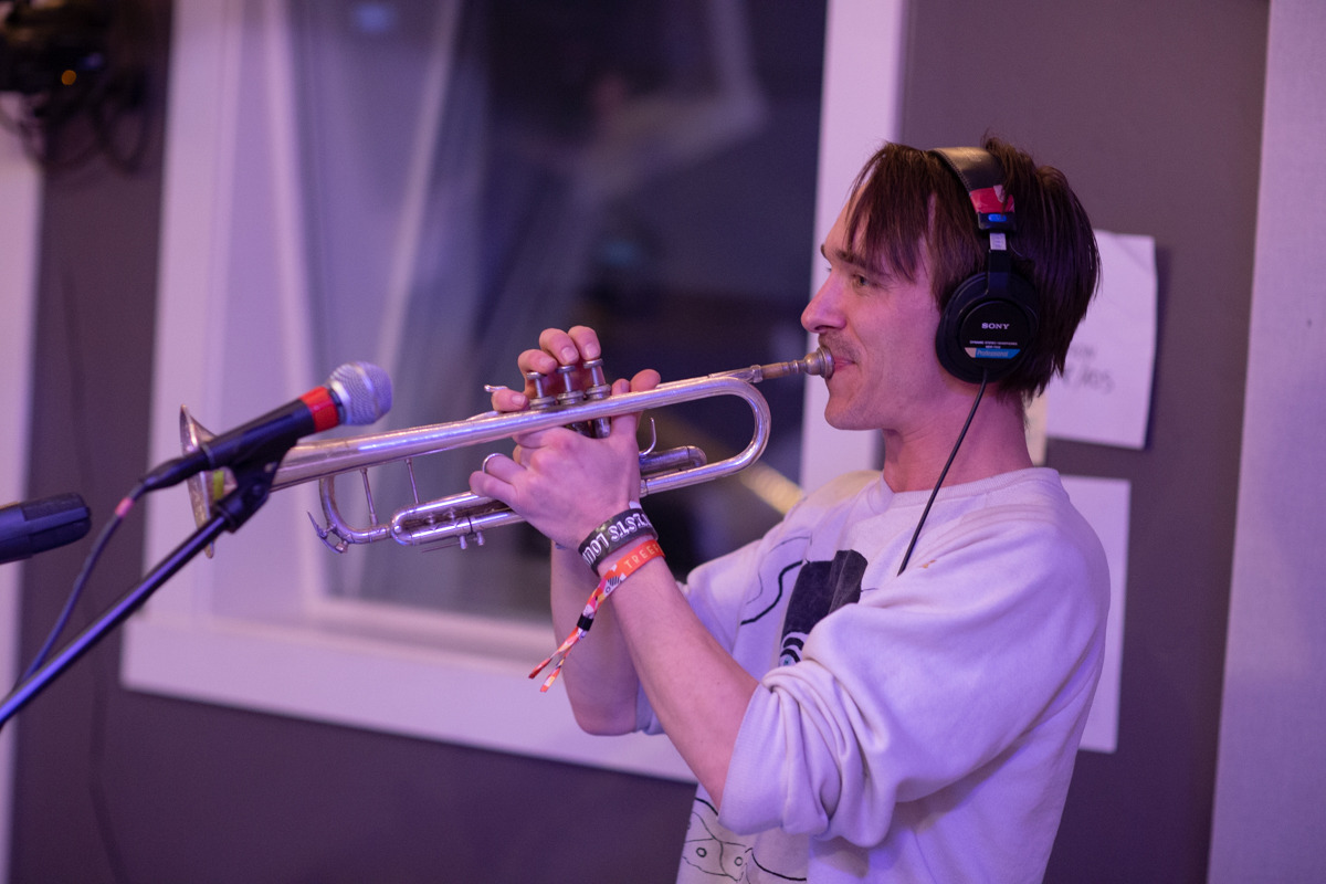 Day 4 / Live in-studio at KRBX with DJ Dusty C / Rubblebucket. AS