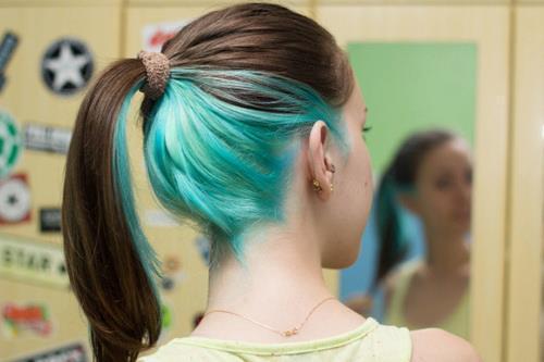 Cabelos Coloridos - Blog — Hairstyle: Underlayer [aka 'cabelo colorido...