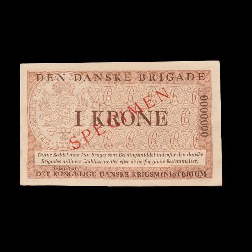 Den Danske Brigade : 1 krone specimen