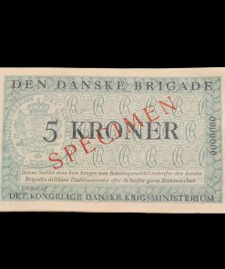 Den Danske Brigade : 5 krone specimen