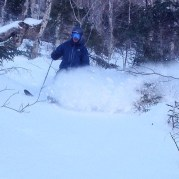 Mike ripping pow on some WhiteRooms