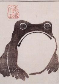 Frog from Meika gafu. Edo Period. Matsumoto Hoji, Eirakuya Toshiro