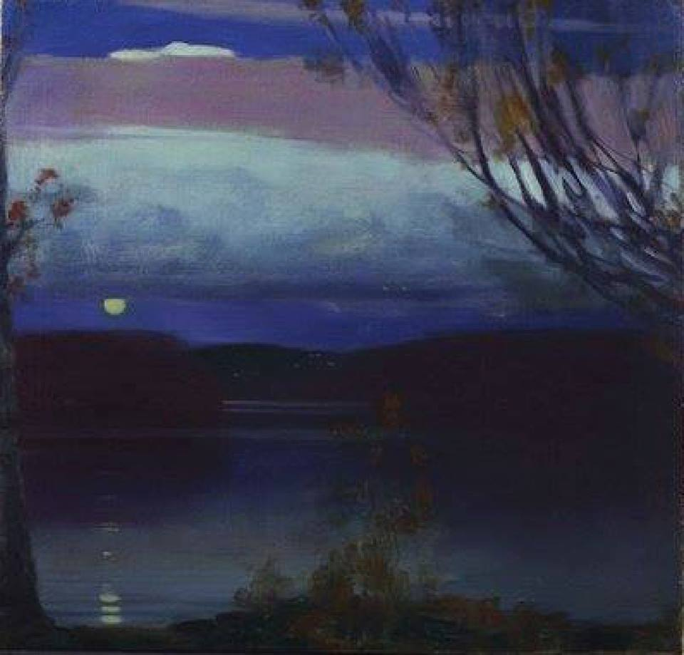 "huariqueje: "" Lake George - Edward Steichen , 1910 Luxembourgish ,1879-1973 Oil on canvas, 62.2 x 63.5 cm. (24.5 x 25 in.) """