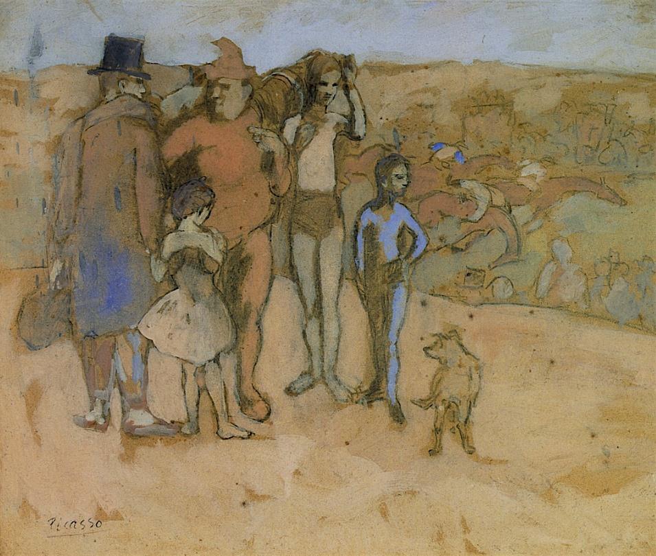 Pablo Picasso - La Famille de Saltimbanques (Étude) - 1905