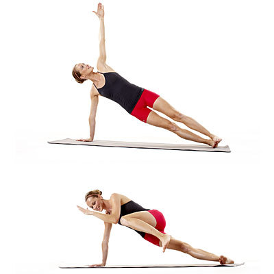 side planks to reduce love handles