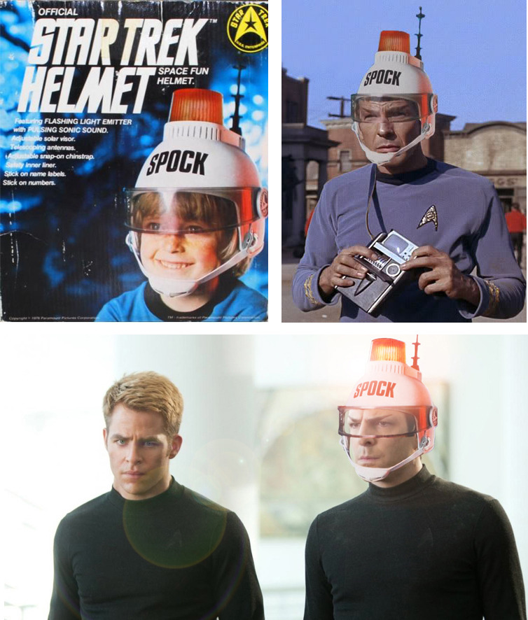 "condensed-bloodmilk: "" mulder-who: "" #I'M LITERALLY CRYING ABOUT THIS HELMET AGAIN #EVERY TIME I SEE IT I JUST #WHAT IS THIS SHIT FOR #WHY IS THERE A POLICE SIREN ON TOP OF IT #WHAT IS THE ANTENNA FOR #BUT MOSTLY #WHY #WHY DOES IT SAY SPOCK ON IT IN..."