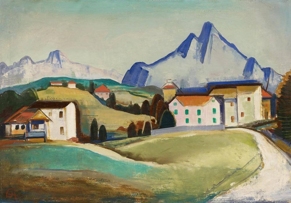 Karl Hofer (1878-1955) Ticino Landscape, 1934