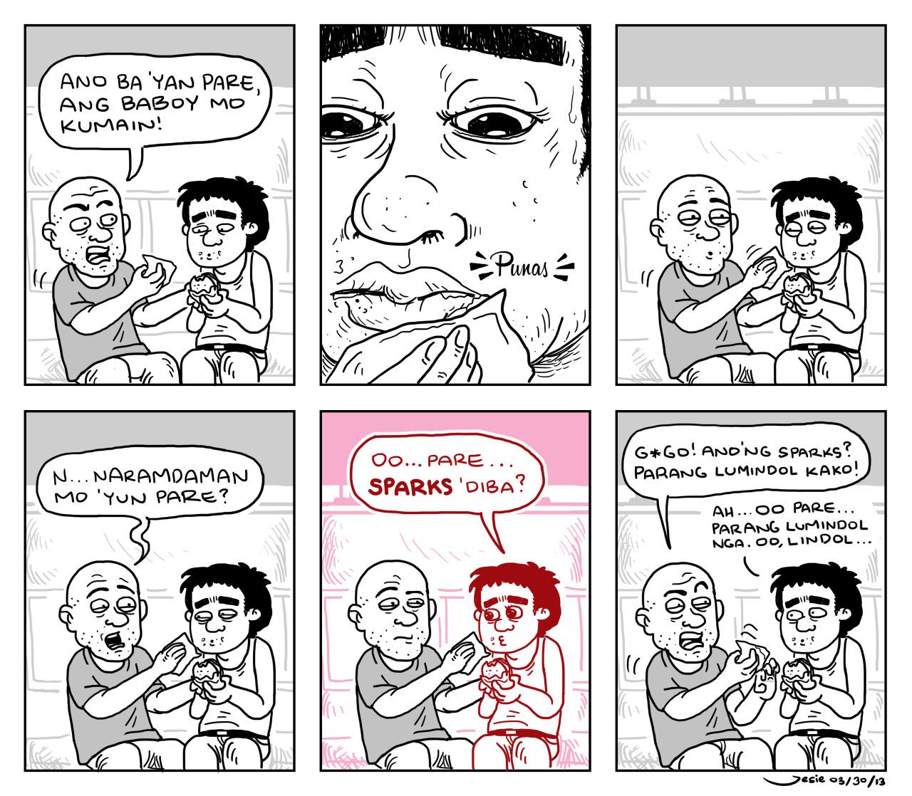 """Sparks"" comic by Jesie Castro"