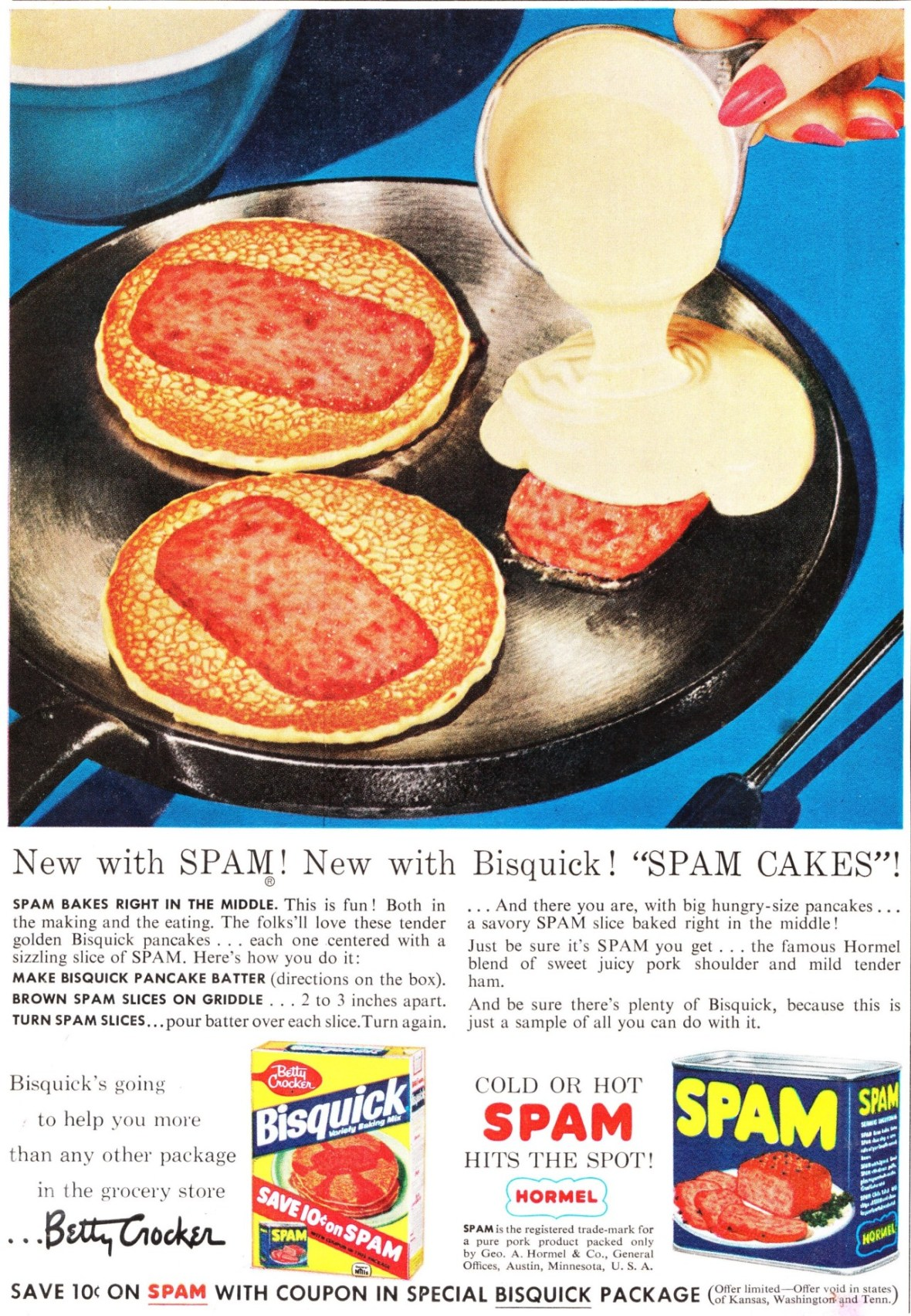 Bisquick and Spam - 1950s
