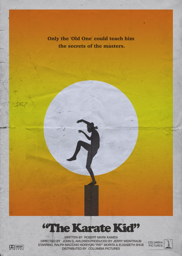Day 208: The Karate Kid. #amovieposteraday