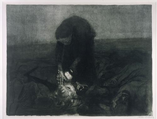Kathe Kollwitz - Schlachtfeld (1921)