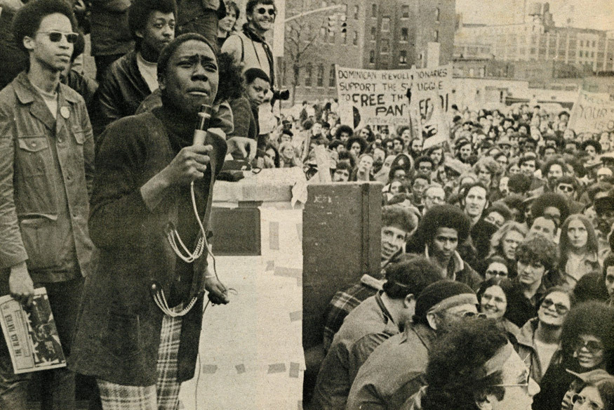 Afeni Shakur. Photo by Marilyn Kroplick for Rat Subterranean News (1970).