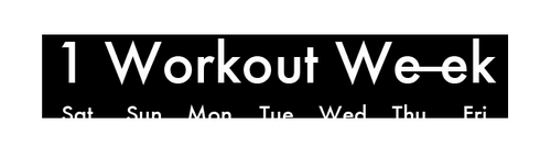 One workout a week