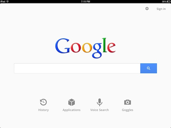 Google Search for iPad Gets New Features and Redesigned UI