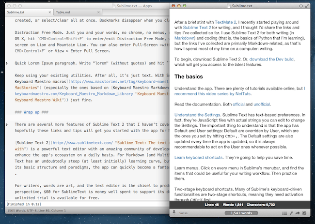 Sublime Text 2 Markdown packages are great alternatives to Microsoft Word for writers
