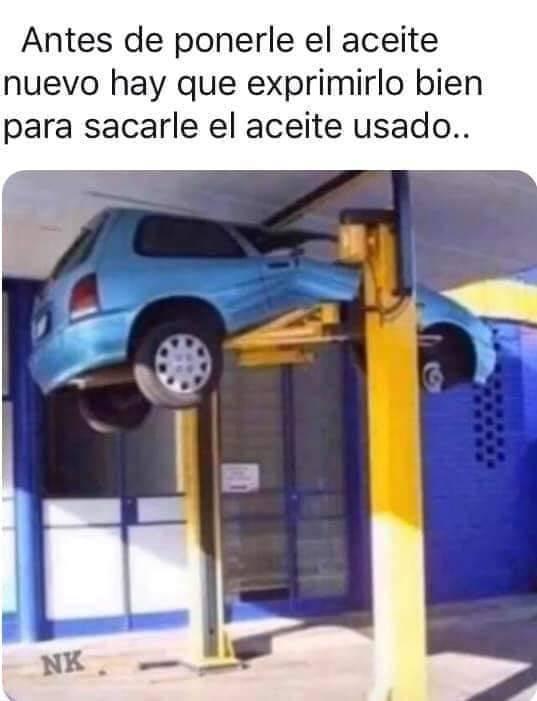 Exprimiendo el coche