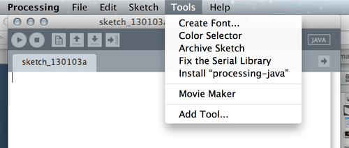 Install Processing-java