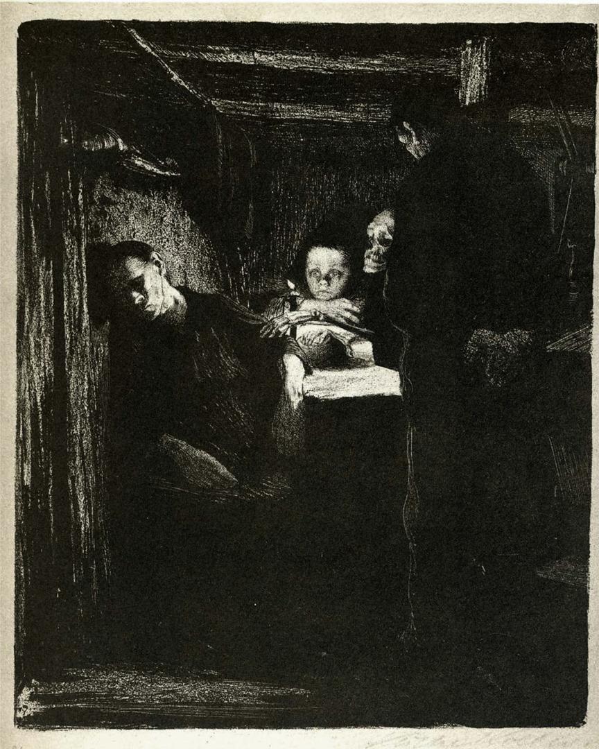 """drakontomalloi: """"Käthe Kollwitz - Death. 1893-1897 """""""