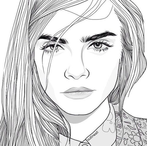 cara delevingne drawing  tumblr