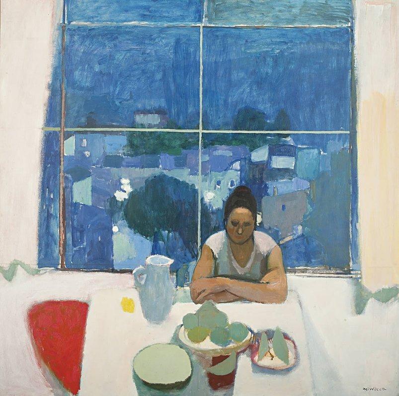 """lilithsplace: """"  Studio Window, Anticoli, 1963 - Alberto Morrocco (1917–1998) """""""