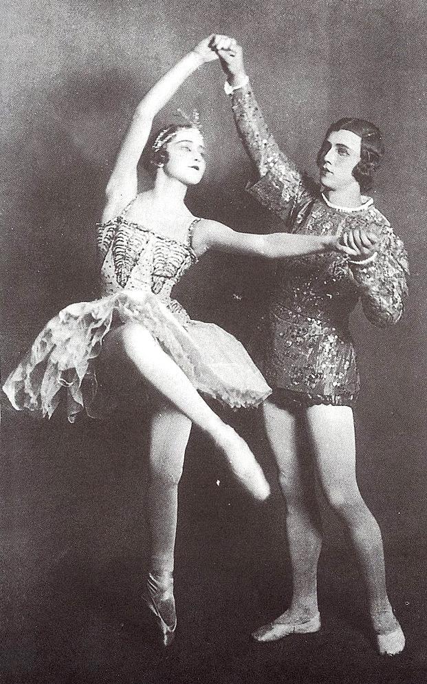 A rare photo of Galina Ulanova as Princess Florine...