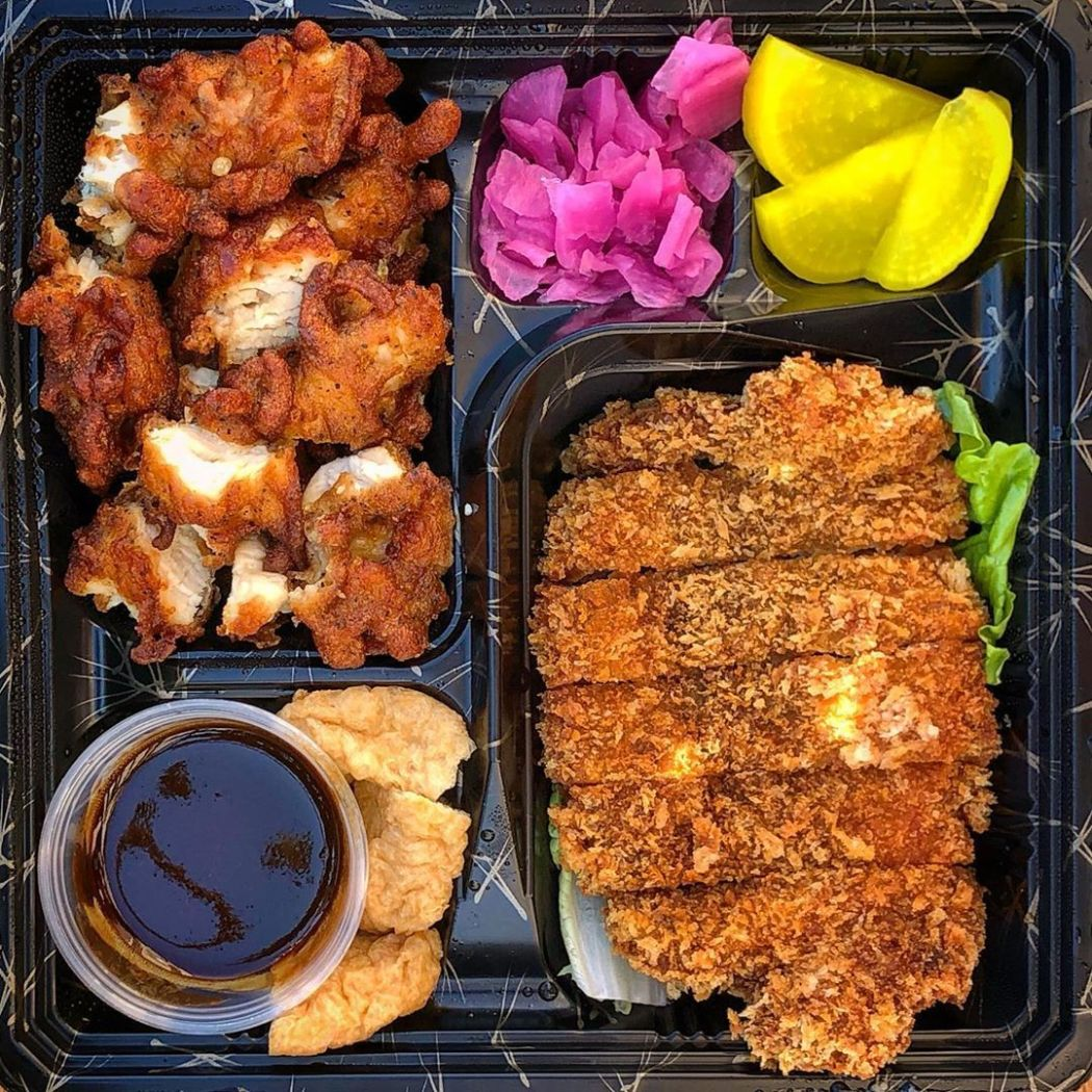 Ichiban Bento @tsurumaru_udon With tender Pork Katsu, Karaage Chicken, Pickled Radish, Tofu, side of Rice & Miso Soup 🍱😍😉 Now available for delivery & pick up 🍜👍👏🏼 Check out these sweet new deals this week! 🍲DIY Udon Kit (cook your favorite udon from...